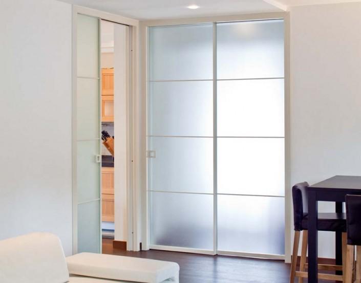 Porte scorrevoli a scomparsa in alluminio vetro temadoors - Porte scorrevoli in vetro a scomparsa ...